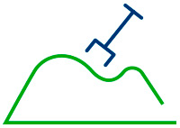 Icono de montaña de arena