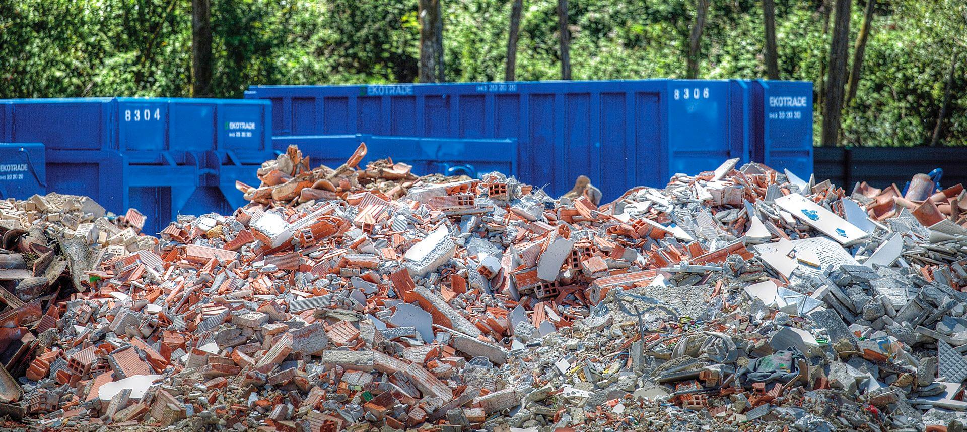 Escombro para reciclar