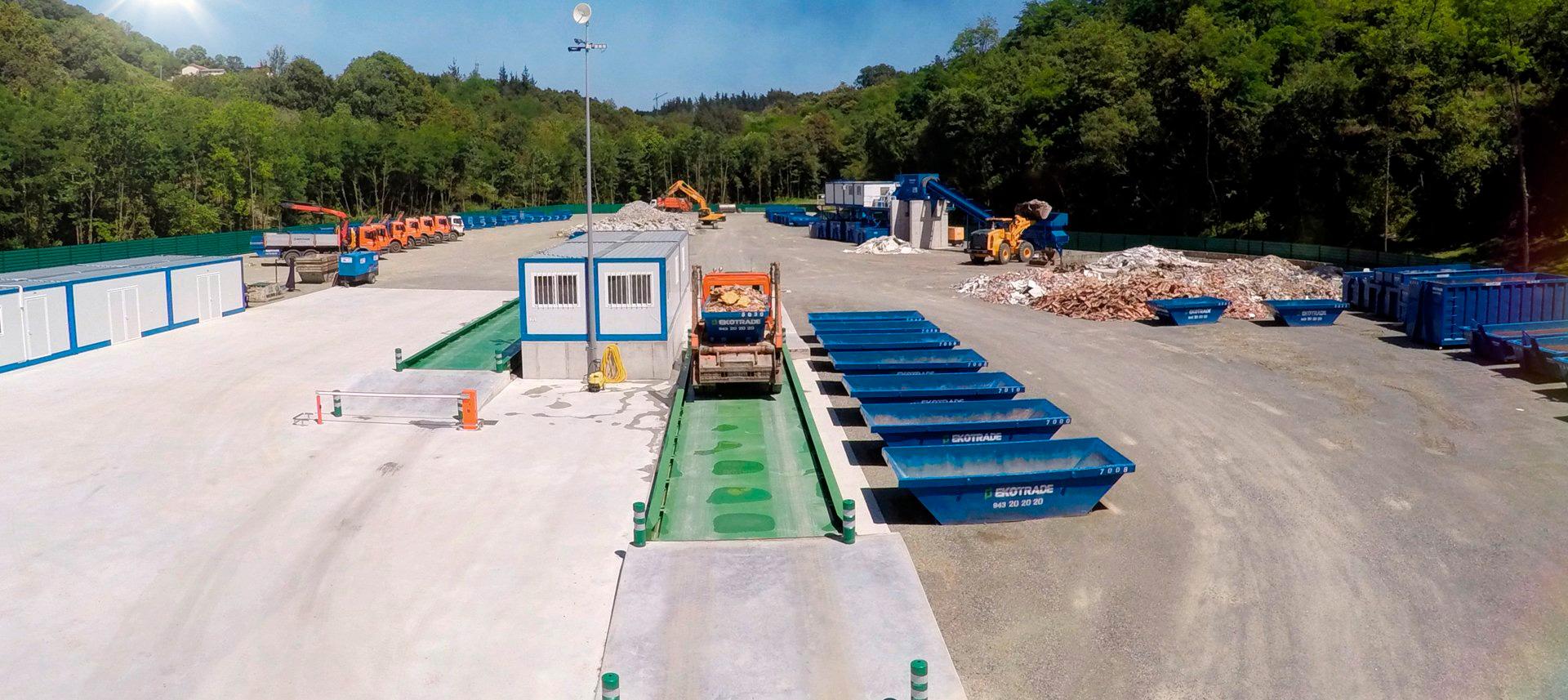 Imagen de la planta de gestión de residuos