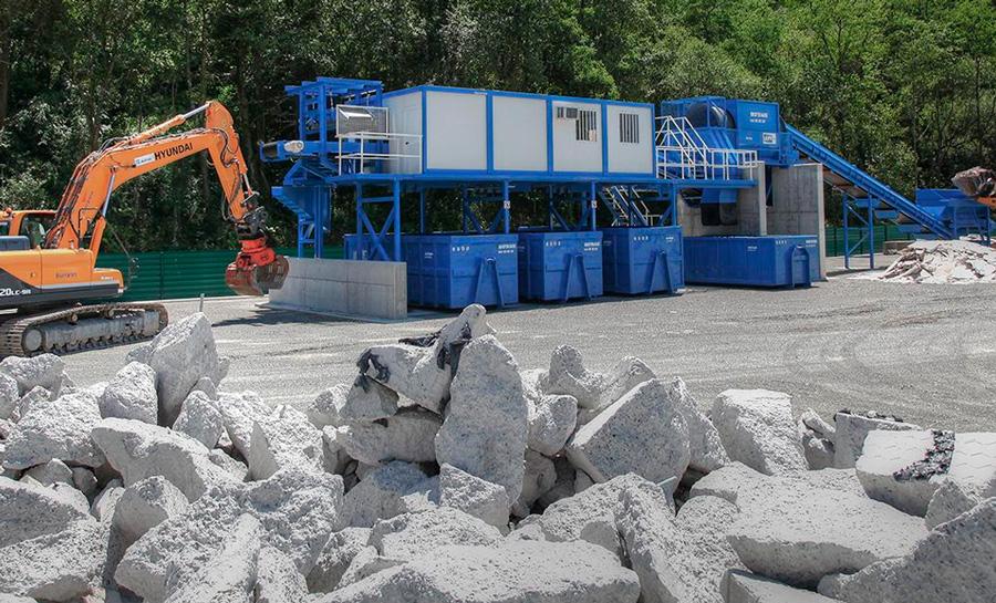 Instalaciones de la planta de gestión de residuos.