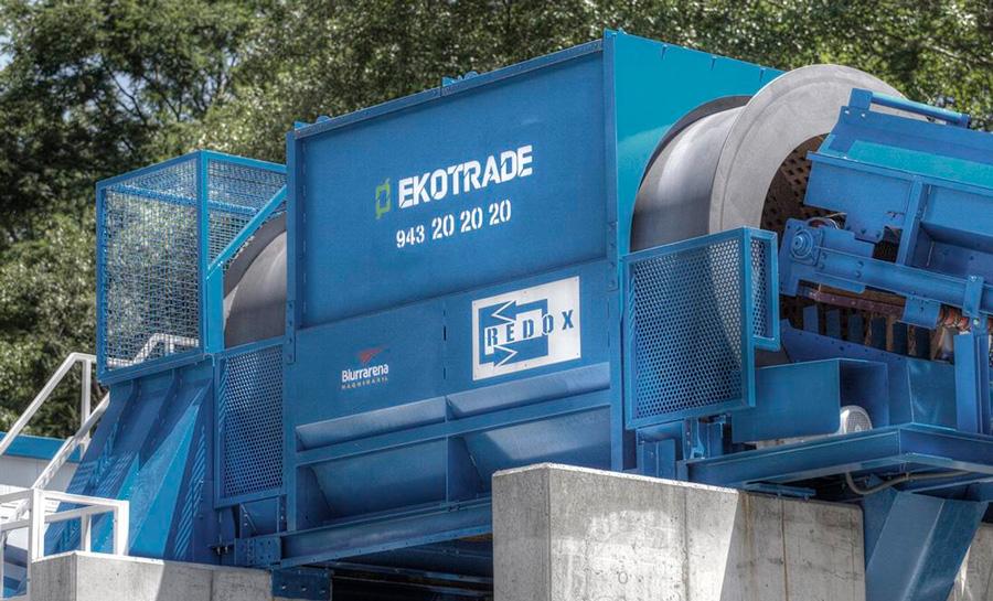 Maquinaria para el tratamiento de los residuos.