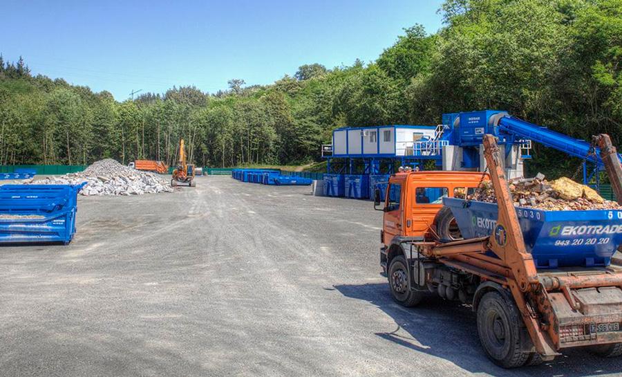 Planta de Ekotrade para la gestión de residuos